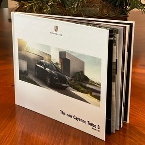 Porsche Cayenne Turbo S Hardcover Promotional Book